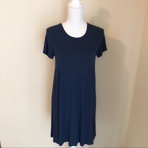 Madewell Blue T-Shirt Dress Size S